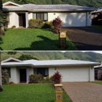 Cairns pressure cleaning driveways (before&after)