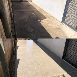 Cairns pressure cleaning driveways (before and after)