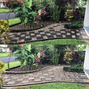 Cairns pressure cleaning path (before & after)