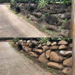 Cairns pressure cleaning walls (before and after)