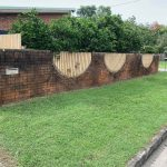 Cairns pressure cleaning fence (before)
