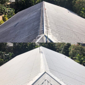 Cairns pressure cleaning roofs (before and after)