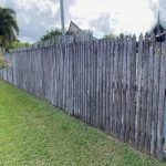 Cairns pressure cleaning fences (before)